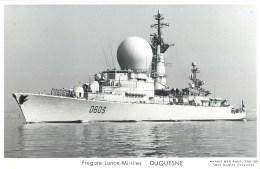 FEGATE LANCE MISSILES DUQUESNE  PHOTOGRAPHE TOULON MARIUS BAR NAVIRE DE GUERRE PAQUEBOT BOAT TRANSPORT BATEAU - Warships