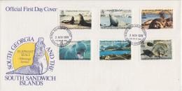 South Georgia 1991 Elephant Seals 6v FDC  ** Mnh (F5780) - Zuid-Georgia