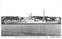 COMMANDEMANT DE GRASSE TOULON MARIUS BAR NAVIRE DE GUERRE PAQUEBOT BOAT TRANSPORT BATEAU - Warships