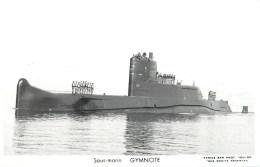 SOUS MARIN GYMNOTE TOULON MARIUS BAR NAVIRE DE GUERRE PAQUEBOT BOAT TRANSPORT BATEAU - Sous-marins
