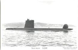 SOUS MARIN FLORE TOULON MARIUS BAR NAVIRE DE GUERRE PAQUEBOT BOAT TRANSPORT BATEAU - Sous-marins