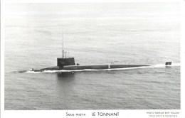 SOUS MARIN LE TONNANT TOULON MARIUS BAR NAVIRE DE GUERRE PAQUEBOT BOAT TRANSPORT BATEAU - Unterseeboote