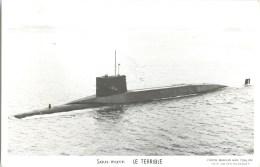 SOUS MARIN LE TERRIBLE TOULON MARIUS BAR NAVIRE DE GUERRE PAQUEBOT BOAT TRANSPORT BATEAU - Submarines