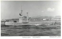 BATHYSCAPHE ARCHIMEDE TOULON MARIUS BAR NAVIRE DE GUERRE SOUS MARIN PAQUEBOT BOAT TRANSPORT BATEAU - Submarines