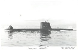 SOUS MARIN GALATEE PHOTOGRAPHE TOULON MARIUS BAR NAVIRE DE GUERRE  PAQUEBOT BOAT TRANSPORT BATEAU - Sous-marins