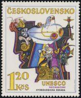 Czechoslovakia / Stamps (1974) 2079: International Hydrological Decade (UNESCO) 1,20 Kcs; Painter: Josef Liesler