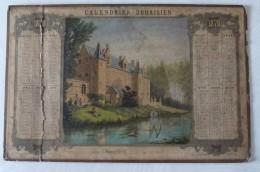 Calendrier Douaisien 1870 Château De Wagnonville Douai Imp. Legros Carré St Pierre - Calendari