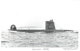 SOUS MARIN DORIS PHOTOGRAPHE TOULON MARIUS BAR NAVIRE DE GUERRE  PAQUEBOT BOAT TRANSPORT BATEAU - Sous-marins