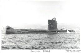 SOUS MARIN DAPHNE PHOTOGRAPHE TOULON MARIUS BAR NAVIRE DE GUERRE  PAQUEBOT BOAT TRANSPORT BATEAU - Submarines