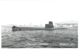 SOUS MARIN ESPADON PHOTOGRAPHE TOULON MARIUS BAR NAVIRE DE GUERRE  PAQUEBOT BOAT TRANSPORT BATEAU - Submarines