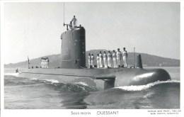 SOUS MARIN OUESSANT PHOTOGRAPHE TOULON MARIUS BAR NAVIRE DE GUERRE  PAQUEBOT BOAT TRANSPORT BATEAU - Sous-marins
