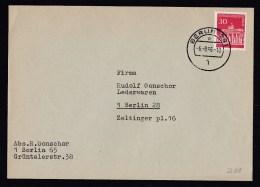 Germany-Berlin: Cover, 1966, Single Franking (traces Of Use) - Brieven En Documenten