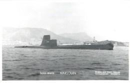 SOUS MARIN MARSOUIN PHOTOGRAPHE TOULON MARIUS BAR NAVIRE DE GUERRE  PAQUEBOT BOAT TRANSPORT BATEAU - Submarines