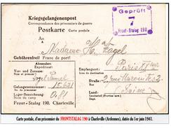 """PRISONNIERS DE GUERRE. - Les """"Frontstalags"""": CP Du Frontstalag 190 à Chaleville (Ardennes) - Guerre Mondiale (Seconde)"""
