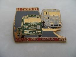 Pin´s Double Attache Mercedes-Benz Et Renault PL,Grand Prix Camion 1992 LE CASTELLET,EGF. - Mercedes