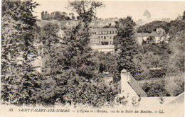 SAINT VALERY SUR SOMME - L' Eglise Et L' Hospice, Vus De La Butte Des Moulins  92071) - Saint Valery Sur Somme