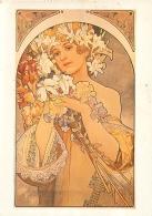 ALPHONSE MUCHA REPRO  LA FLEUR 1897 BOOKKING INTERNATIONAL - Mucha, Alphonse
