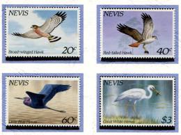 Nevis ** N° 267 à 270 - Oiseaux  : Faucons Et Hérons - - Amérique Centrale