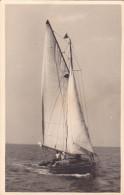 25848 Carte Photo Belgique Anvers ?  -bateau Yatch -marin Femme Voilier Port - Daté 1943 -N° D55 PIKI - Voiliers