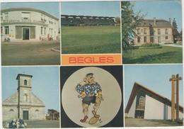 33 - BEGLES -  Multivues   Poste , Terrain De Rugby - France