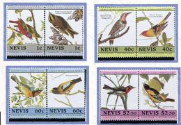 Nevis ** N° 291 à 298 - J.J. Audubon. Oiseaux  - - Amérique Centrale