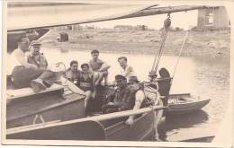 25850 Carte Photo Belgique Anvers ?  -bateau Yatch -marin Femme Voilier Port - Daté 1943 -N° D55 PIKI - Voiliers