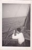 25851 Carte Photo Belgique Anvers ?  -bateau Yatch -marin Femme Voilier Port - Daté 1943 -N° D55 PIKI - Voiliers