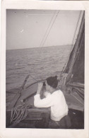 25851 Carte Photo Belgique Anvers ?  -bateau Yatch -marin Femme Voilier Port - Daté 1943 -N° D55 PIKI
