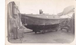 25852 Carte Photo Belgique Anvers ?  -bateau Yatch - Chantier Naval - Voilier Port - Daté 1943 -N° D55 PIKI - Voiliers