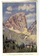 18440   -   Italie  -  Trentino  -  Parete Occidentale Della Marmolada E Il Rifugio Di Contrin  -  Giuseppe Zuliani - Altre Illustrazioni