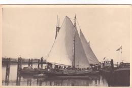 25853 Carte Photo Belgique Anvers ?  -bateau Yatch  Voilier Port - Daté 1943 -N° D55 PIKI