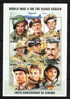 Guyana 1997 Sc # Bf 3139  MNH **  WW II  On The Silver Screen - Seconda Guerra Mondiale
