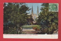 Ottawa  --   Roman Catholic Cathedral From Major S Hill Park - Ottawa