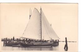 25857 Carte Photo Belgique Anvers ?  -bateau Yatch  Voilier Port - Daté 1943 -nom Bateau SENA ?