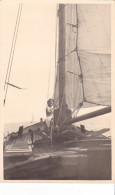 25858 Carte Photo Belgique Anvers ?  -bateau Yatch  Voilier Port - Daté 1943 -nom Bateau SENA ? - Voiliers