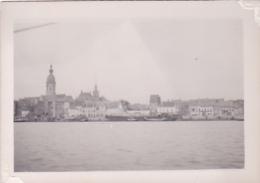 """25859 """"tamise Passe """" Photo Belgique Anvers ? -bateau Yatch -marin Femme Voilier Port - Daté 1943"""