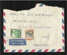 Saudi Arabia 1975  Air Mail Postal Used Cover  Riyadh To Pakistan Holy Mosque Mecca Medina Madina Islamic - Arabie Saoudite
