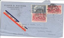 Luftpost - Brief Von Floyd D. Ransom ( Mexico ) An Papierfabrik Bunzl & Biach ( Wattens )Tirol, 1939 - Mexiko