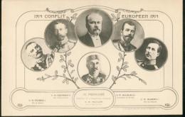 France -  Conflit Européen - 1914 -  Médaillons De M. Poincaré, SM Nicolas II, SM Albert I, SM George V, SM Pierre I - Events