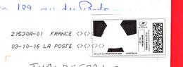 France - 2016 -  Montimbramoi - Enveloppe DL 03/10/16 - Nouveau  Code Roc 21530A-01 - FOOT - Cartas