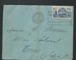 Maury N°400 Sur Lettre Voyagée Oblitéré Dreyfuss VER629  ( Visite Des Souverains Anglais)   - Ac103 - 1921-1960: Modern Period