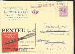 Publibel Obl. N° 2556 ( Pentel; Stylo; Pointe Extra-fine) Obl: Zelzate 20/08/1973 - Publibels