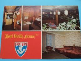 Hôtel Vieille France - Rue Lafayette PARIS () Anno 19?? ( Zie Foto Voor Details ) !! - Hotels & Restaurants