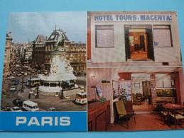 Hôtel TOURS & MAGENTA - Rue De LANCRY PARIS () Anno 19?? ( Zie Foto Voor Details ) !! - Hotels & Restaurants
