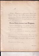 BRUXELLES Protestant Frédéric-Guillaume BRUGMANN 73 Ans En 1852 époux OFFERMANN église évangélique Doodsbrief - Décès