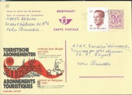 Publibel Obl. N° 2573 ( Abonnements Touristiques; Chemins De Fer Belges) Obl: Bxl - Publibels