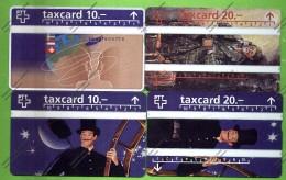 SWITZERLAND: P-33, 34 39 & 41 4 Cards. Unused - Schweiz
