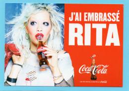 COCA COLA  Les 100 Ans De La Bouteille J'ai Embrassé RITA Coca Cola  CPM Inédite   Voir Scanne Recto Verso - Autres Bouteilles