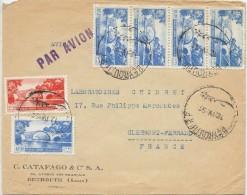 LCIRC7 - LIBAN LETTRE AVION PUR CLERMONT FERRAND 12/4/1951 - Liban