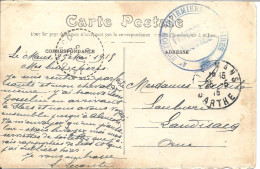 4é Section Infirmiers Militaires Sur Carte Du Mans Pour Landisacq (orne) - Marcophilie (Lettres)